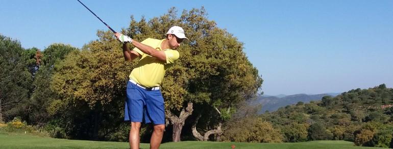 Francisco Peña e Iván Ruiz ganaron el Challenge LeClub y representarán al Real Club de campo en la final nacional de Isla Canela Golf