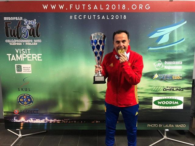Victoria de la selección Española en el europeo de futbol sala para sordos