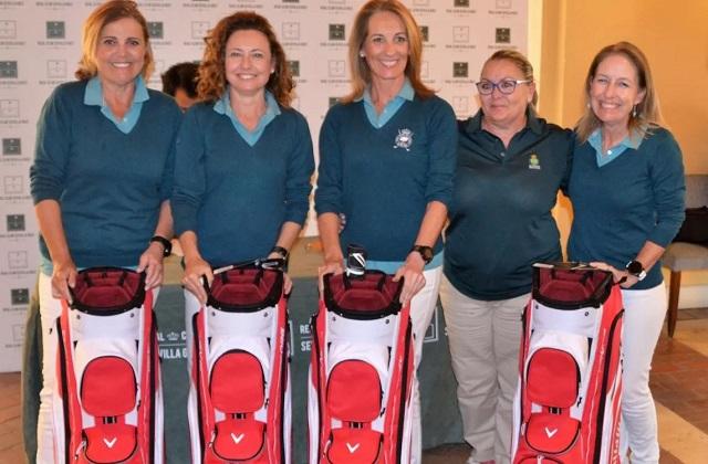 Asunción Moreno, María Carrere, Concha Núñez y Rocío García-Aranda, ganadoras de en el Real Club Sevilla Golf